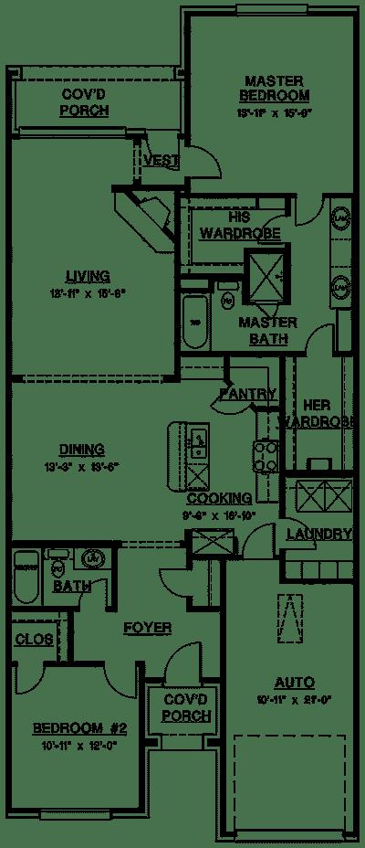 Calabria II Luxury Home Floor Plan